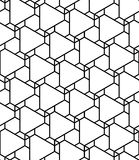 Vector modern seamless geometry pattern futuristic, black and white abstract Royalty Free Stock Photo