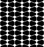 Vector modern seamless geometry pattern futuristic, black and white abstract Stock Image