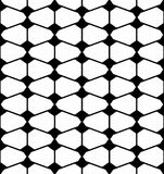 Vector modern seamless geometry pattern futuristic, black and white abstract Royalty Free Stock Photography