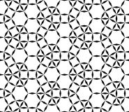 Vector modern seamless geometry pattern futuristic, black and white abstract Royalty Free Stock Photos