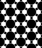 Vector modern seamless geometry pattern grid, black and white abstract Royalty Free Stock Photography