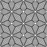 Vector modern seamless geometry pattern grid, black and white abstract Stock Images