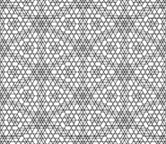 Vector modern seamless geometry pattern grid, black and white abstract Stock Photography
