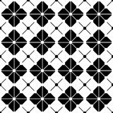 Vector modern seamless geometry pattern grid, black and white abstract Stock Photo
