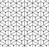 Vector modern seamless  geometry pattern grid, black and white abstract Royalty Free Stock Photos