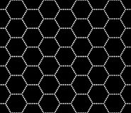 Vector modern seamless geometry pattern hex, black and white abstract Stock Image