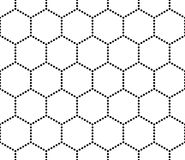 Vector modern seamless geometry pattern hex, black and white abstract Stock Photo