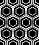 Vector modern seamless geometry pattern hex, black and white abstract Royalty Free Stock Image