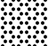 Vector modern seamless geometry pattern hexagon, black and white abstract Stock Photos