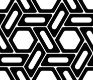 Vector modern seamless geometry pattern hexagon, black and white abstract Royalty Free Stock Images