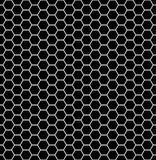 Vector modern seamless geometry pattern hexagon, black and white abstract Stock Images