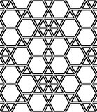 Vector modern seamless geometry pattern hexagon, black and white abstract Royalty Free Stock Photography