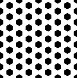 Vector modern seamless geometry pattern hexagon, black and white Stock Photo