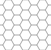 Vector modern seamless geometry pattern hexagon Royalty Free Stock Images