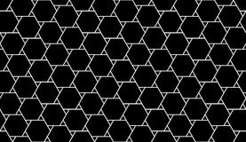 Vector modern seamless geometry pattern hexagon, black and white abstract Stock Image