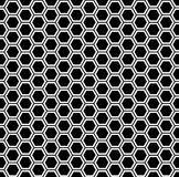 Vector modern seamless geometry pattern hexagon, black and white honeycomb abstract Stock Photography