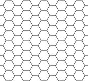 Vector modern seamless geometry pattern hexagon, black and white honeycomb abstract Royalty Free Stock Photo