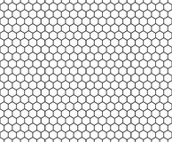 Vector modern seamless geometry pattern hexagon, black and white honeycomb abstract Royalty Free Stock Image