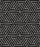 Vector modern seamless geometry pattern hexagon grunge, black and white abstract Stock Photo