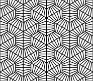 Vector modern seamless geometry pattern hexagon lines, black and white abstract Royalty Free Stock Photography
