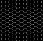 Vector modern seamless geometry pattern honeycomb, black and white Royalty Free Stock Photos