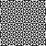 Vector modern seamless geometry pattern hourglass, black and white abstract Royalty Free Stock Image