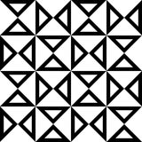 Vector modern seamless geometry pattern hourglass, black and white abstract Royalty Free Stock Photos