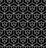 Vector modern seamless geometry pattern illusion, black and white abstract Royalty Free Stock Photography