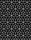 Vector modern seamless geometry pattern illusion, black and white abstract Royalty Free Stock Photo