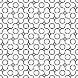 Vector modern seamless geometry pattern jigsaw, black and white abstract Stock Images