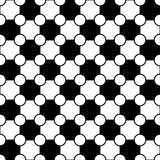 Vector modern seamless geometry pattern jigsaw, black and white abstract Royalty Free Stock Photos