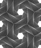 Vector modern seamless geometry pattern line art, black and white abstract Stock Photo