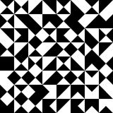 Vector modern seamless geometry pattern random triangle, black and white abstract Royalty Free Stock Photography