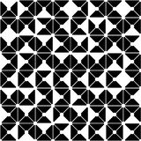 Vector modern seamless geometry pattern random triangle, black and white abstract Stock Image