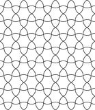 Vector modern seamless geometry pattern round, black and white Royalty Free Stock Image