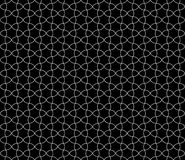 Vector modern seamless geometry pattern round, black and white Royalty Free Stock Photo