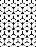 Vector modern seamless geometry pattern shape, black and white Royalty Free Stock Image