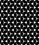 Vector modern seamless geometry pattern shape, black and white abstract Royalty Free Stock Photography