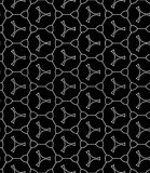 Vector modern seamless geometry pattern shape, black and white abstract Stock Photos