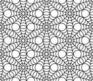 Vector modern seamless geometry pattern spider web halloween, black and white abstract Stock Photography