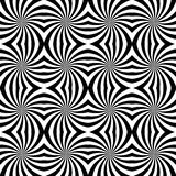 Vector modern seamless geometry pattern spiral, black and white abstract Royalty Free Stock Image