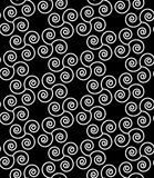 Vector modern seamless geometry pattern spiral , black and white abstract Stock Images