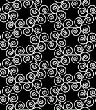 Vector modern seamless geometry pattern spiral hexagon, black and white abstract Royalty Free Stock Photo
