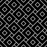 Vector modern seamless geometry pattern squares, black and white abstract Stock Image