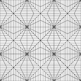 Vector modern seamless geometry pattern squares 3d , black and white abstract Royalty Free Stock Images