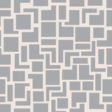 Vector Modern Seamless Geometry Pattern Squares, Grey Abstract Geometric Background, Monochrome Retro Texture Royalty Free Stock Photo