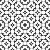 Decorative Seamless Floral Geometric Black & White Pattern Background. Vector modern seamless geometry pattern star, black and white abstract Stock Photos