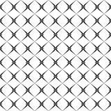 Decorative Seamless Floral Geometric Black & White Pattern Background. Vector modern seamless geometry pattern star, black and white abstract Stock Images
