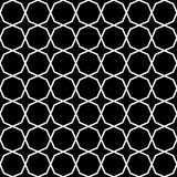 Vector modern seamless geometry pattern star, black and white abstract Royalty Free Stock Photo