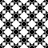 Vector modern seamless geometry pattern star, black and white abstract Stock Images